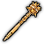 Gold Mace (Weapon) - Someone refusing to compliment your shiny weapon? Why not bash them with it?